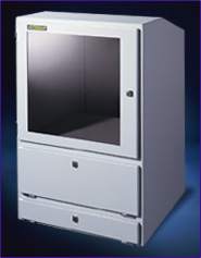 Industrial computer cabinet to protect computers